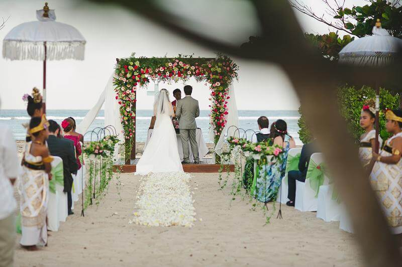 Wedding Ceremony by the beach in Nusa Dua