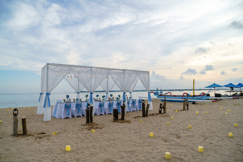 Wedding Ceremony & Reception on White Sandy Beach