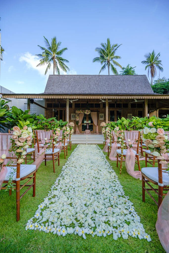 Wedding Ceremony & Reception in a Joglo House at Kayumanis Private Villa Jimbaran