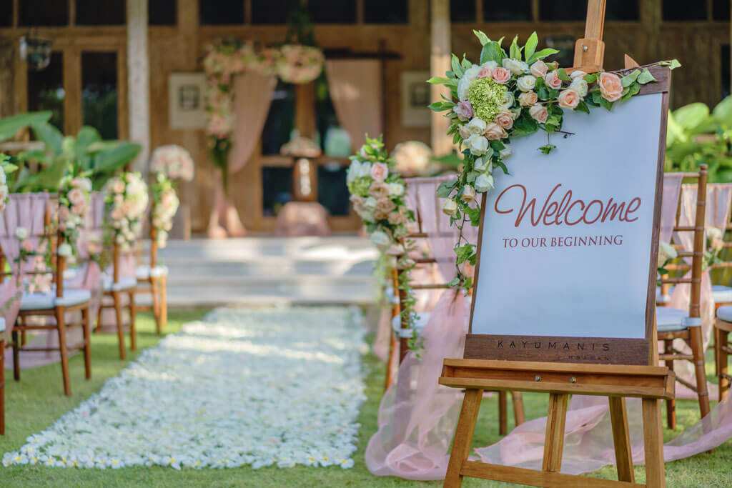 Jimbaran Bali Wedding Ceremony at Kayu Manis Resto